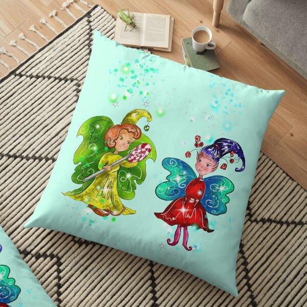 Mini Snap And The Micro Miniature Fairy™  Floor Pillow