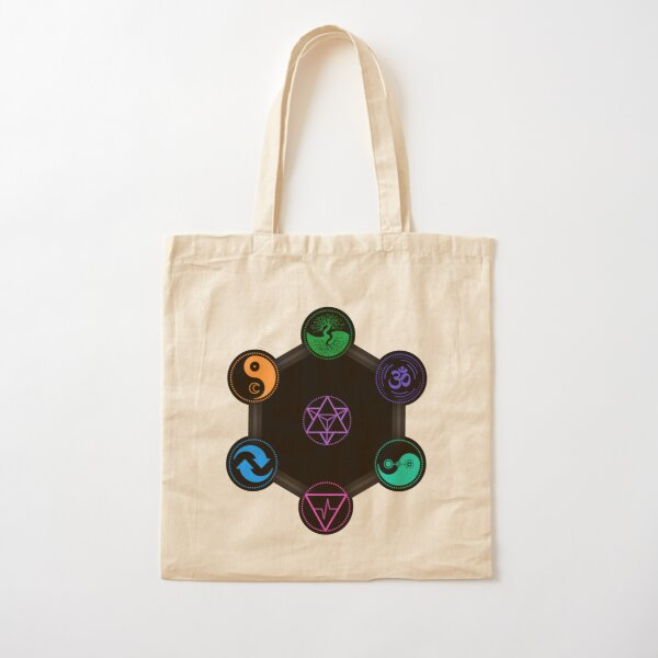 The 7 Universal Principles of Alchemy - Shee Symbols Cotton Tote Bag
