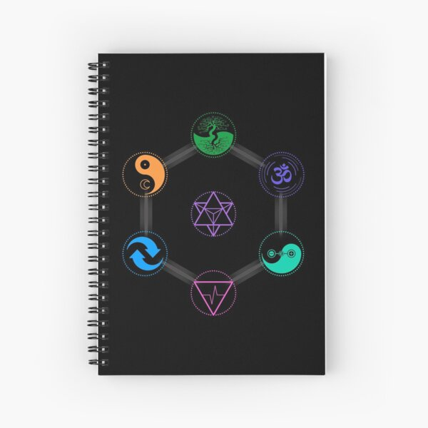 The 7 Universal Principles of Alchemy - Shee Symbols Spiral Notebook