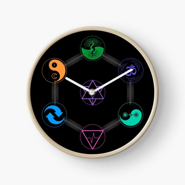 The 7 Universal Principles of Alchemy - Shee Symbols Clock