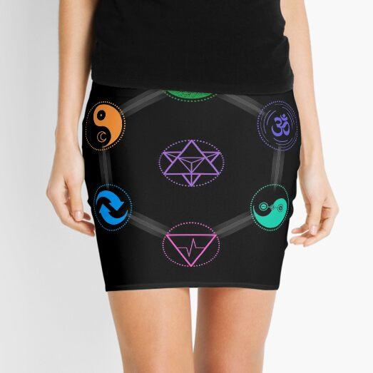 The 7 Universal Principles of Alchemy - Shee Symbols Mini Skirt