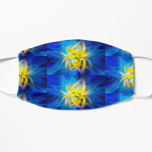 Abstract Swirl Yellow Tube Sponge  - Mixed Media DiveArt Flat Mask