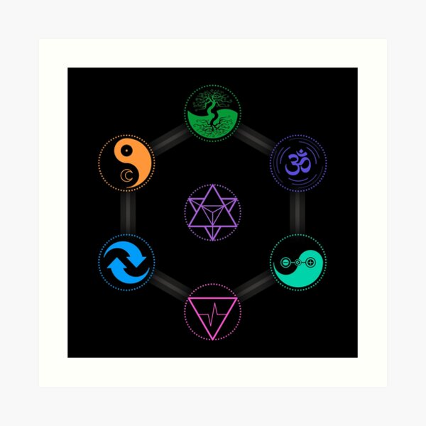 The 7 Universal Principles of Alchemy - Shee Symbols Art Print