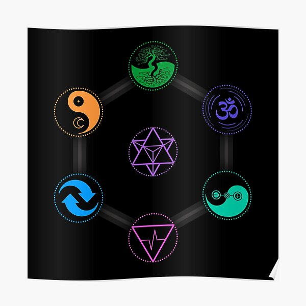 The 7 Universal Principles of Alchemy - Shee Symbols Poster