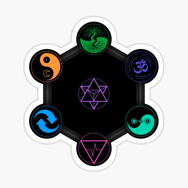 The 7 Universal Principles of Alchemy - Shee Symbols Sticker