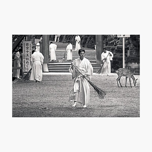 Monks working Photographic Print