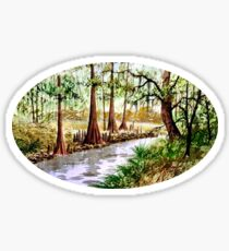 The Sopchoppy River Florida Sticker