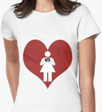 I Love Photography (Girl) Womens Fitted T-Shirt