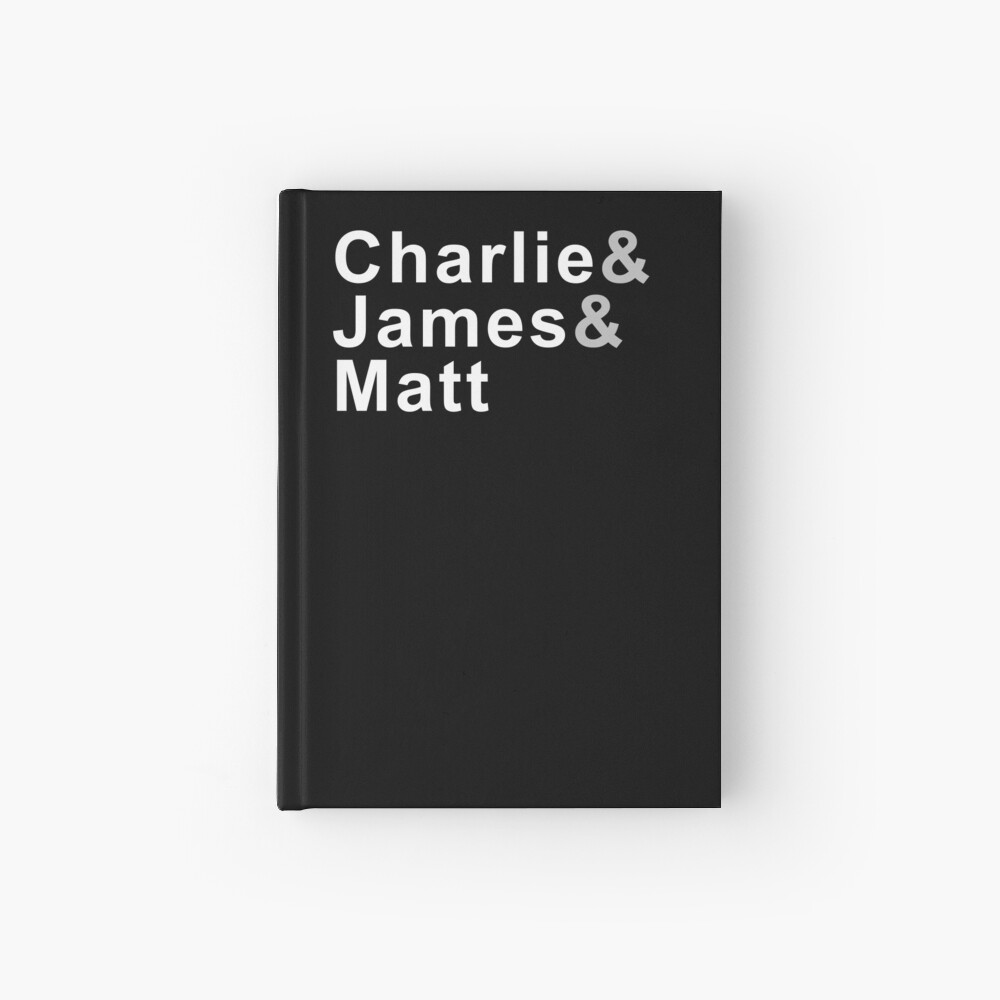 Charlie & James & Matt Hardcover Journal