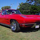 Red Corvette  by odarkeone