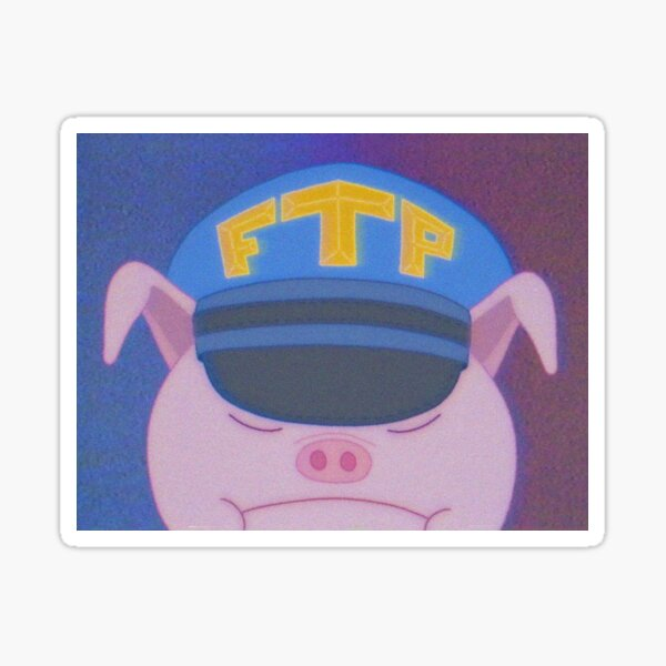 FTP Pig Sticker fini brillant
