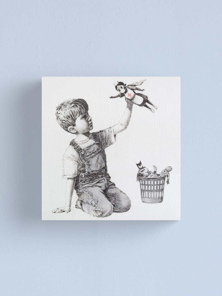 Alternate view of Game Changer - Banksy Canvas Print