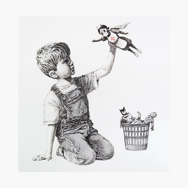 Game Changer - Banksy Photographic Print