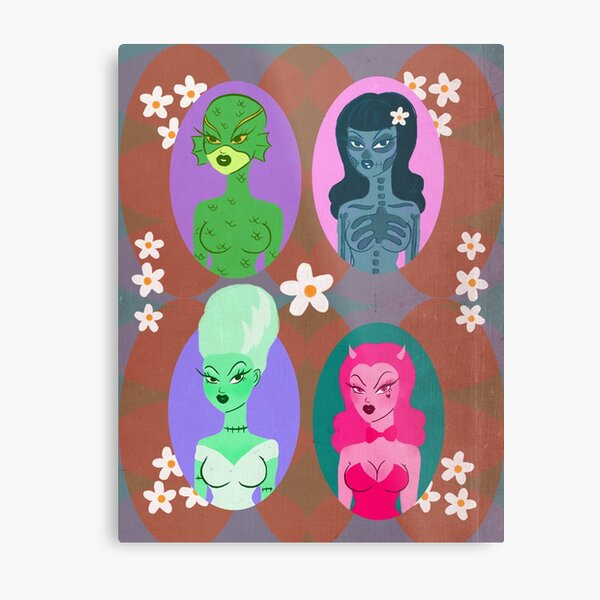 Spooky Girls Club Metal Print