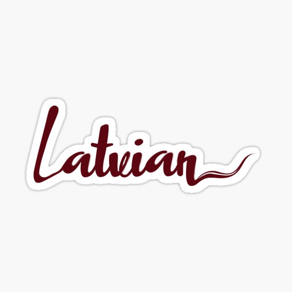 Latvian Sticker