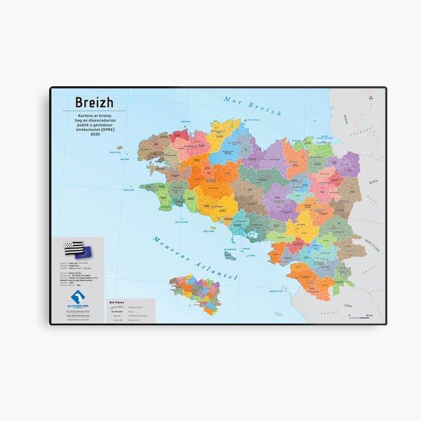 the municipalities are displayed. Breizh Metal Print