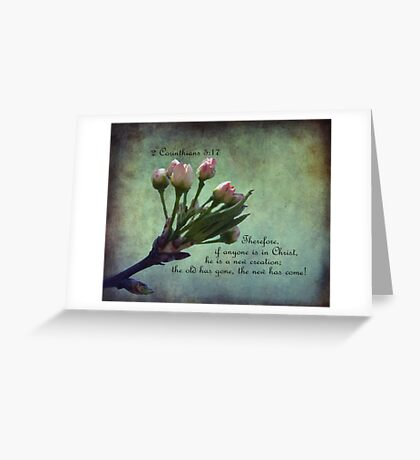 2 Corinthians 5:17 Greeting Card Greeting Card