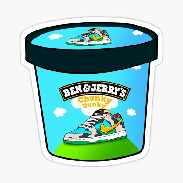 Chunky Dunky Ice Cream Sneaker Sticker