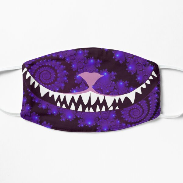 A Grin Without a Cat | NickerStickers on Redbubble Flat Mask