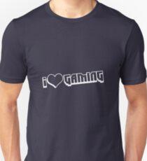 I love Gaming Bit white Unisex T-Shirt
