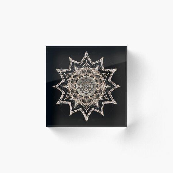 Sri Yantra Star Acrylic Block