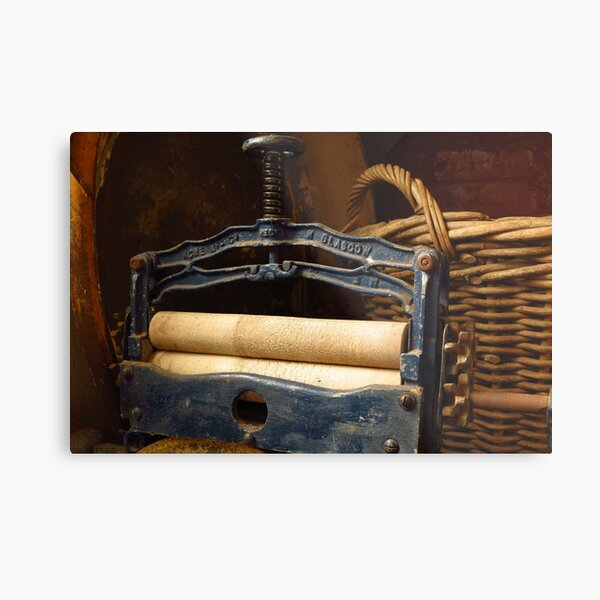 The Mangle - Old Ways for washing Metal Print