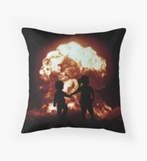 Mushroom Cloud Throw Pillow