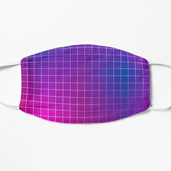 Pink Purple Blue Ombre Squares Flat Mask