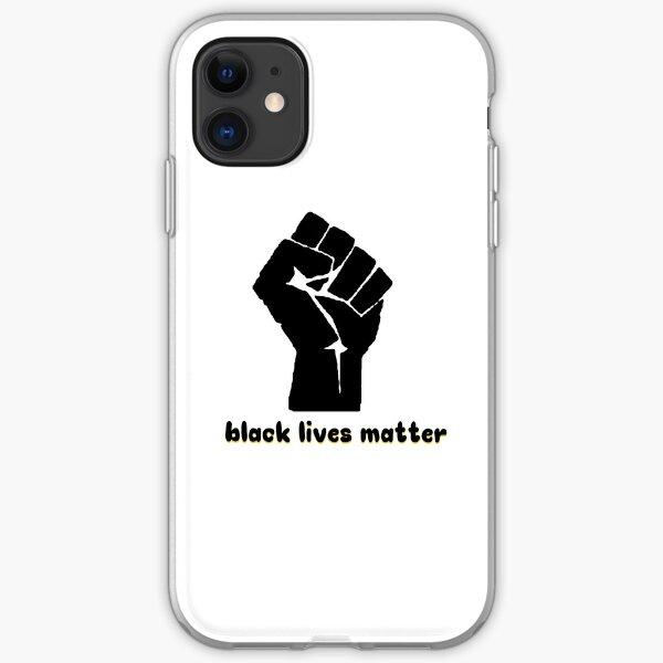 Black Lives Matter Fist Funda blanda para iPhone