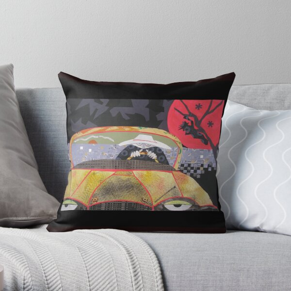 Jesus was the Jagged Shape in the Back of His Mind Throw Pillow