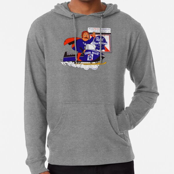 Pabst Snowmobile (70s distressed) Lightweight Hoodie