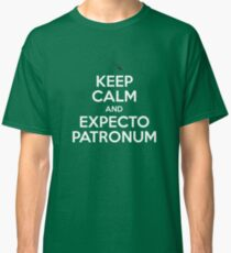 Keep Calm and Expecto Patronum (White w/ Black) Classic T-Shirt