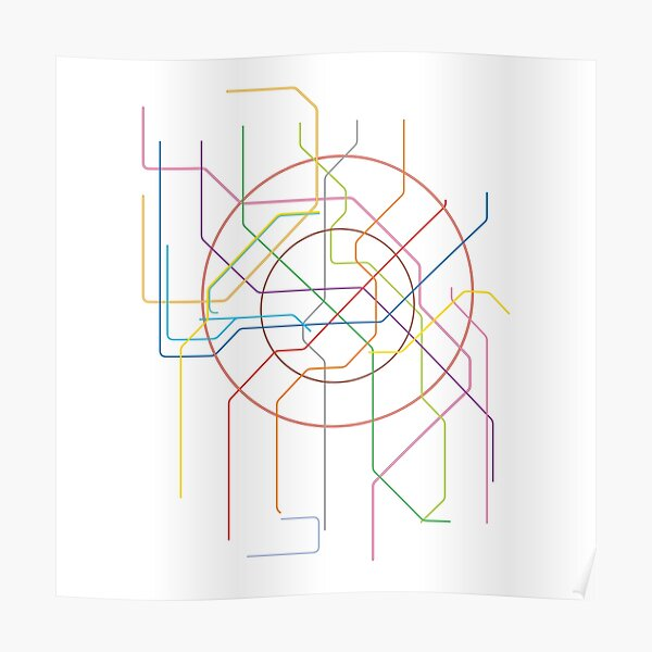 Moscow Subway Map Poster