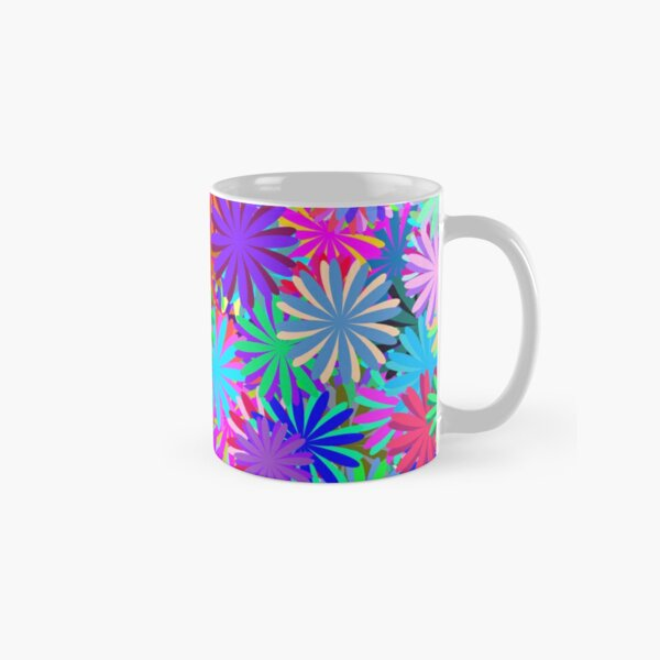 Meadow of Colorful Daisies Classic Mug
