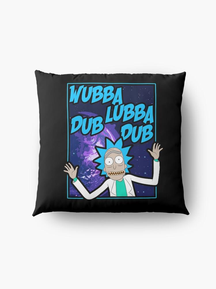Alternate view of Rick Sanchez Wubba Lubba Dub Dub Quote Floor Pillow