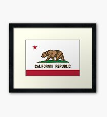 California Flag Framed Print