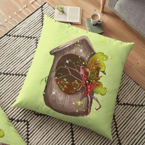 Nestie Shimmer The Birdhouses & Nests Fairy™ Floor Pillow