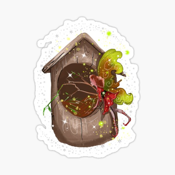 Nestie Shimmer The Birdhouses & Nests Fairy™ Sticker