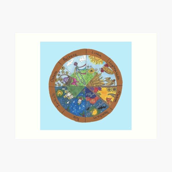 Wheel of the Year Art Print