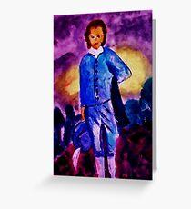Blue Boy, watercolor Greeting Card