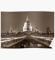 Millenium Bridge / St. Pauls, London, England, UK * Poster