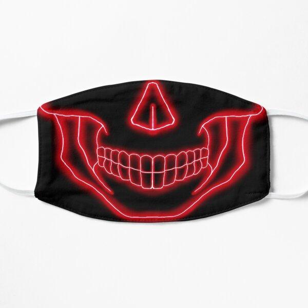 Caveira néon vermelho Masque sans plis