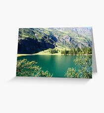 Austria, Tyrol, Hintersee Lake and Landscape Greeting Card