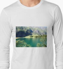 Austria, Tyrol, Hintersee Lake and Landscape Long Sleeve T-Shirt