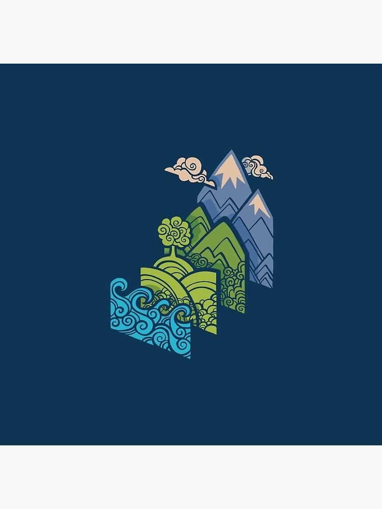 How to Build a Landscape : Blue by Waynem79