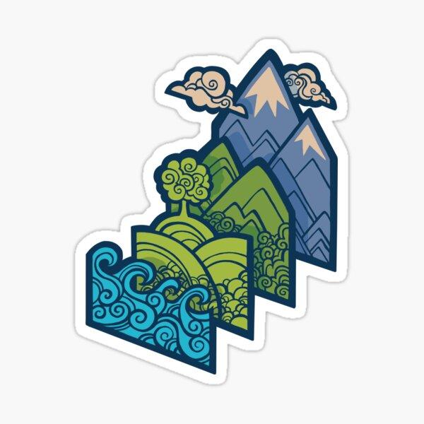 How to Build a Landscape : Blue Sticker
