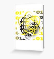 energy atom binary code design Greeting Card