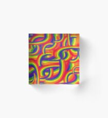 swirling rainbows Acrylic Block
