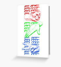 rock paper scissors game design Greeting Card