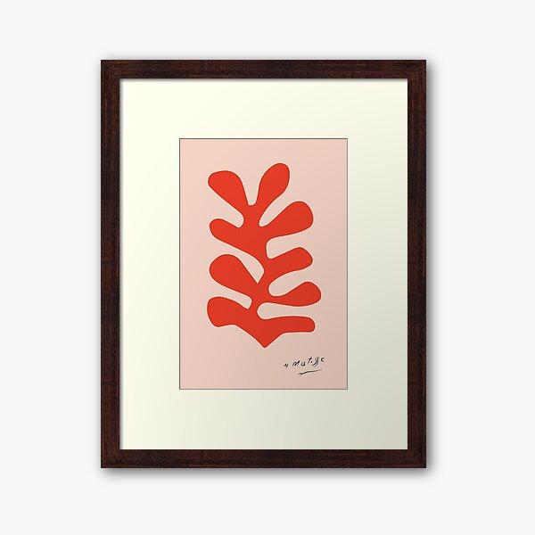 Henri Matisse - Leaf Cutout - Papier Découpés - Red Framed Art Print